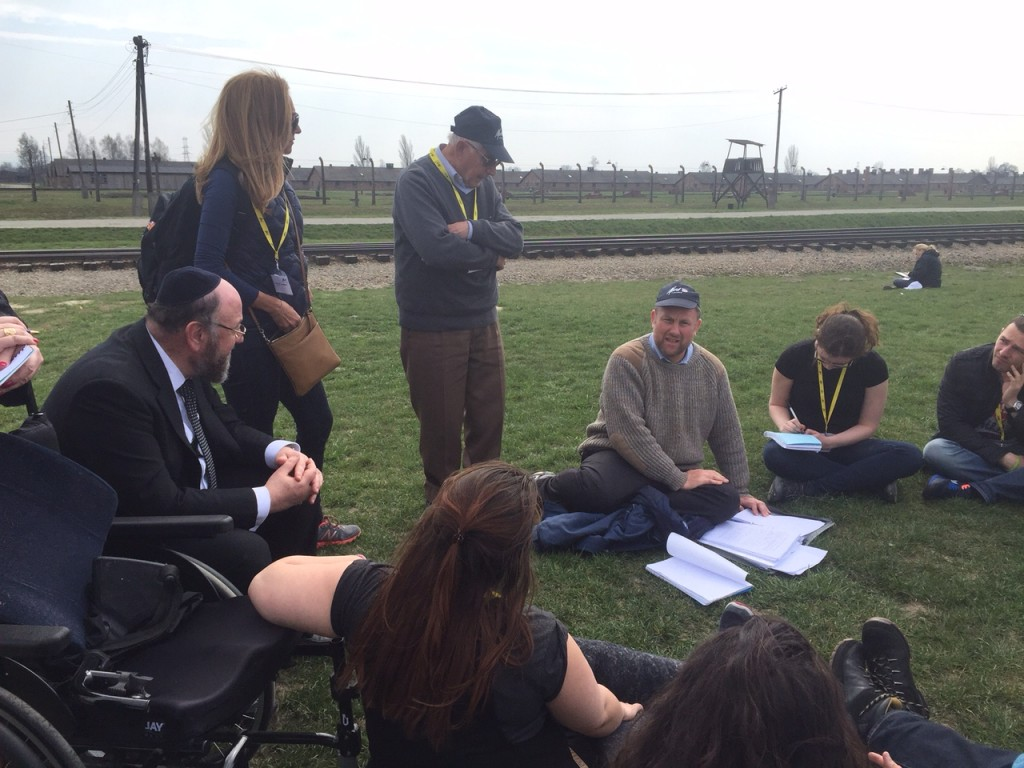 Auschwitz with the Chief Rabbi, Harry Olmer and Rabbi Gideon Sylvester