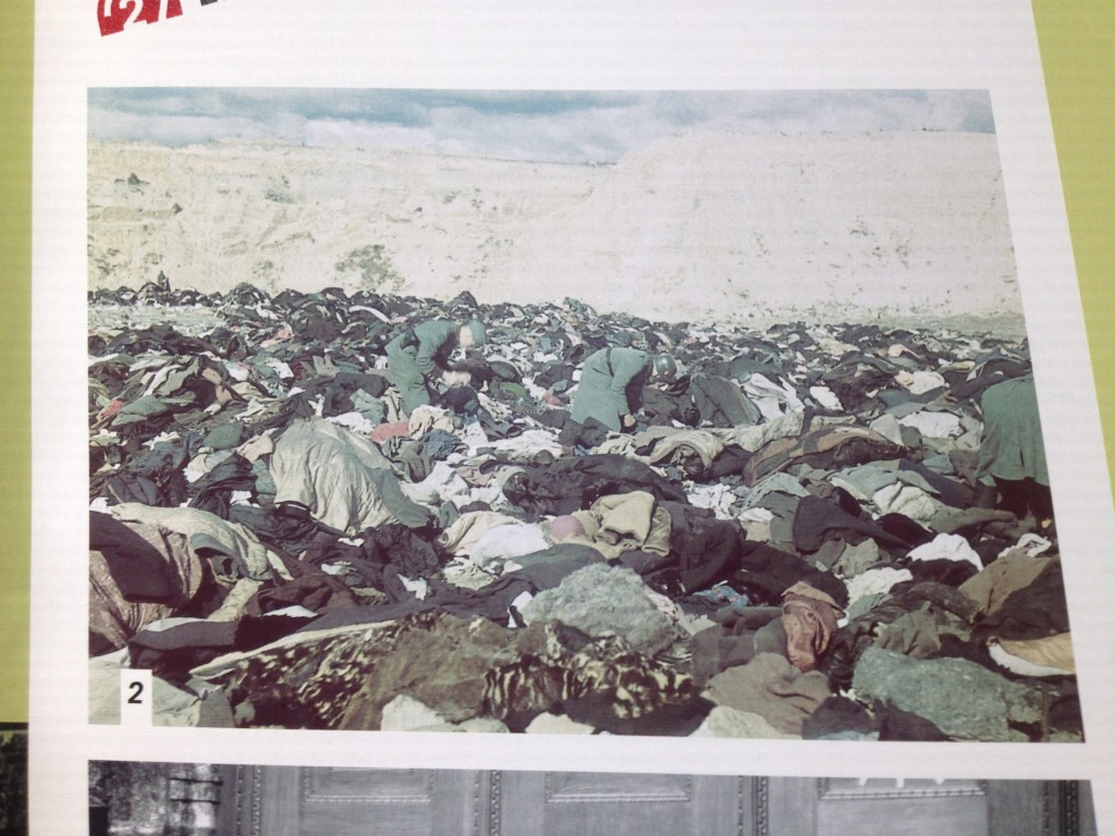 The clothes that were discarded from the tens of thousands marched out and killed at Babi Yar in Kiev,  Ukraine