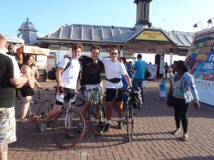 Reaching Brighton with Dan Speed (middle) and Dan Sherry (left) a couple of years ago