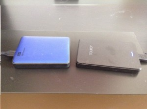 Comparison between the two external hard drives