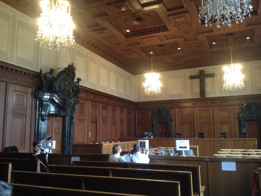 The courtroom where the Nuremberg trials took place