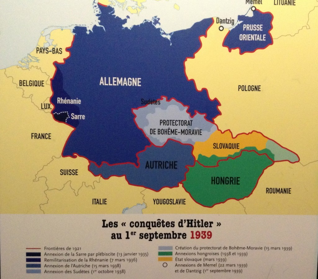 German occupied land before the declaration of war