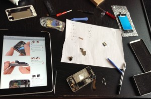 Taking the iPhone apart