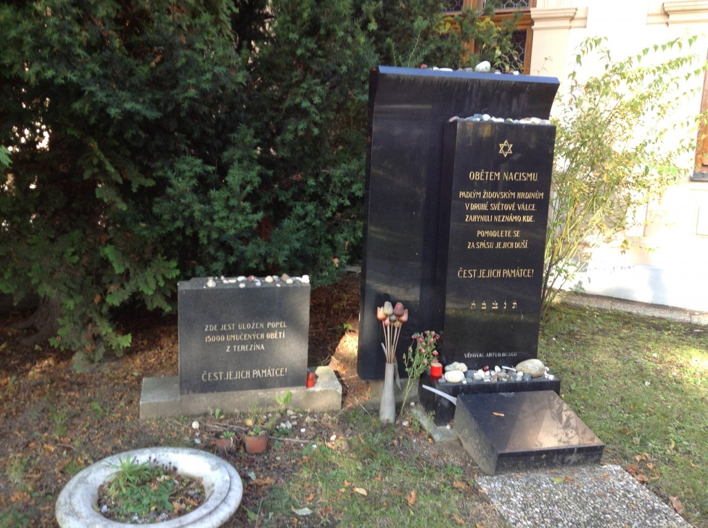 The memorial to Terezin victims in the Jewish Cemetery on the way out of Prague