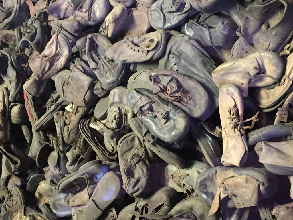 Shoes found at the camps after liberation
