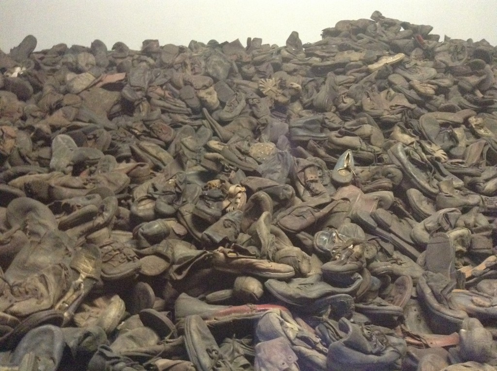 Approximately 40,000 pairs of shoes are on show in the museum here