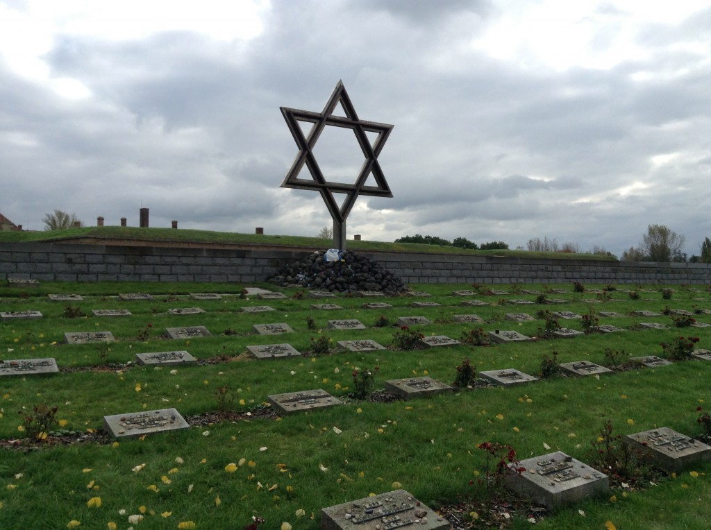 Star of David Memorial outside of the Terezin Camp