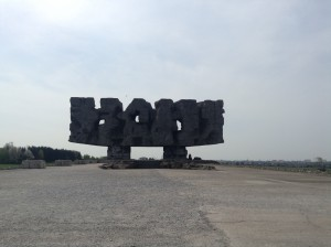 The Large Monument Overlooking Majdanek