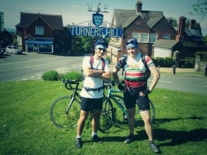 At the top of Turners Hill half way to Brighton